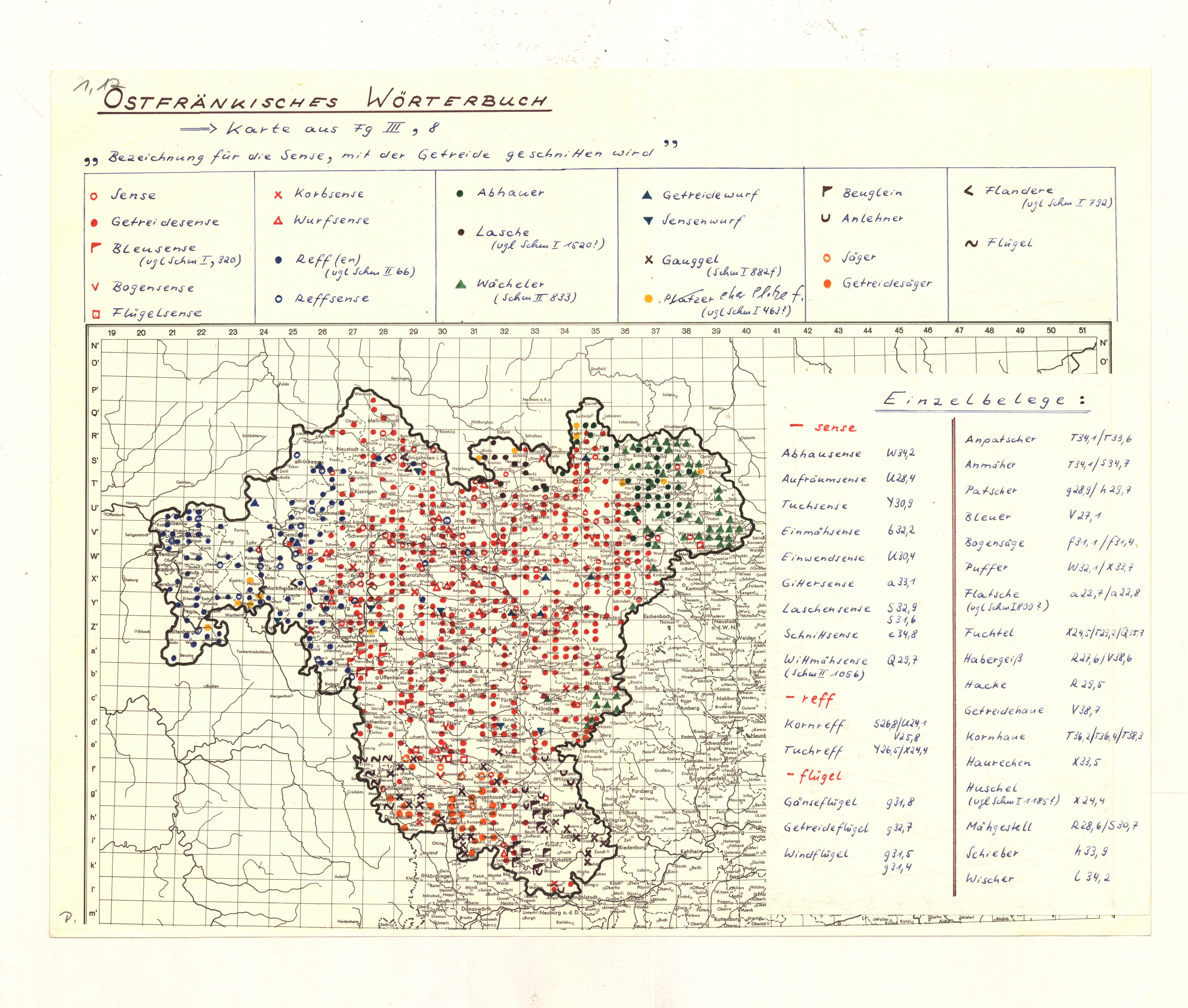 Nachkriegsbögen: Fränkisches Wörterbuch (WBF)
